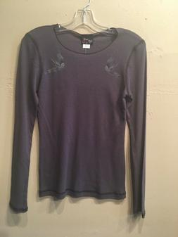 Steady Clothing Women's Tattoo-Style Long Sleeve Gray Therma