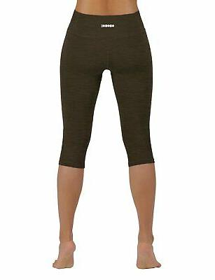 ODODOS Flex Yoga Capris Non See-Through Pants with..