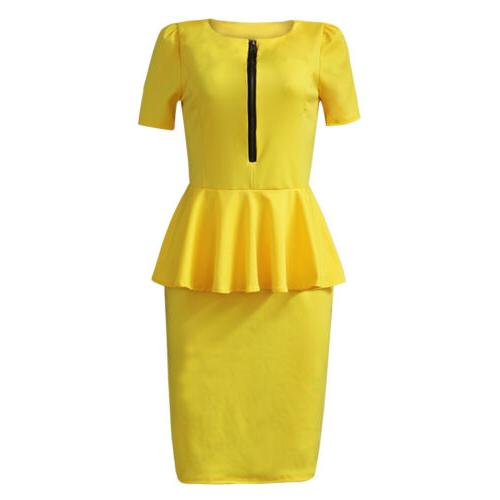 Women Clothing Wear Peplum Skirt Casual