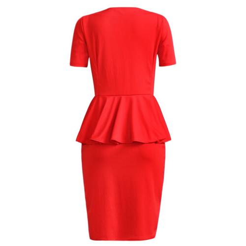 Women Wear Peplum Dress Casual