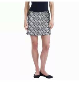 NWT Women's Medium Tranquility Black White Skort By Colora