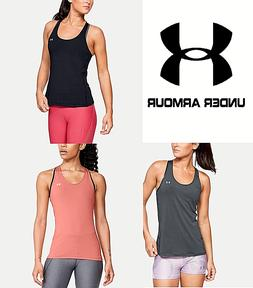 Women's Under Armour Heat Gear Racer Tank Top Shirt Tee Work